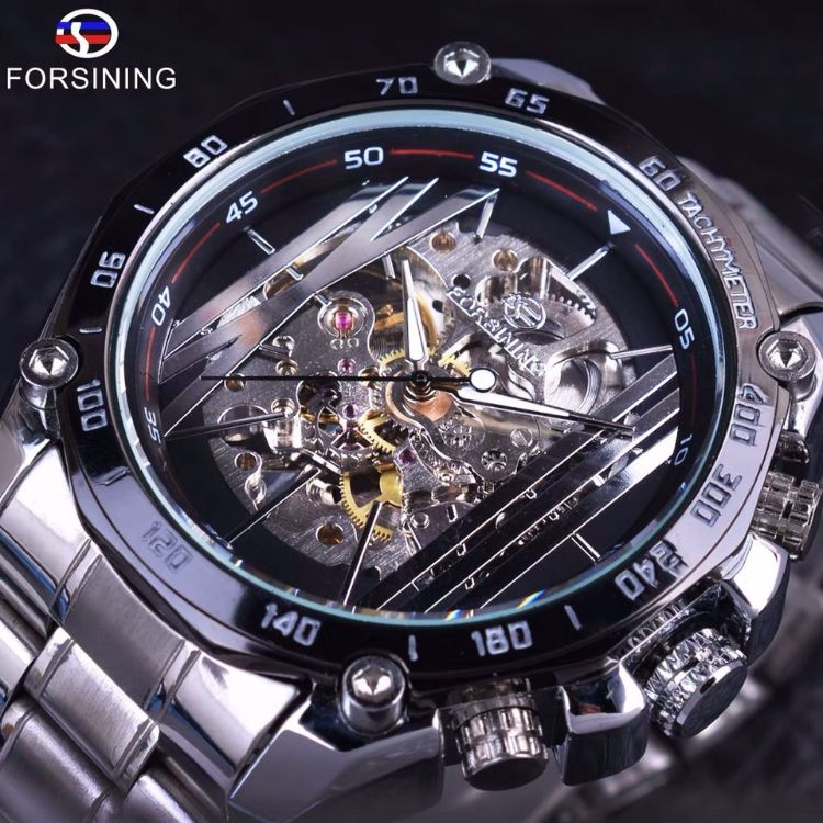 [官方正品]富西尼男士手表全自動鏤空機械手表男夜光防水手表
