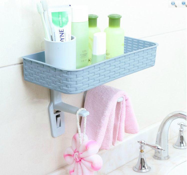 北欧色马桶盖置物架 卫浴用浴用架 收纳盒 无痕挂钩收纳挂架