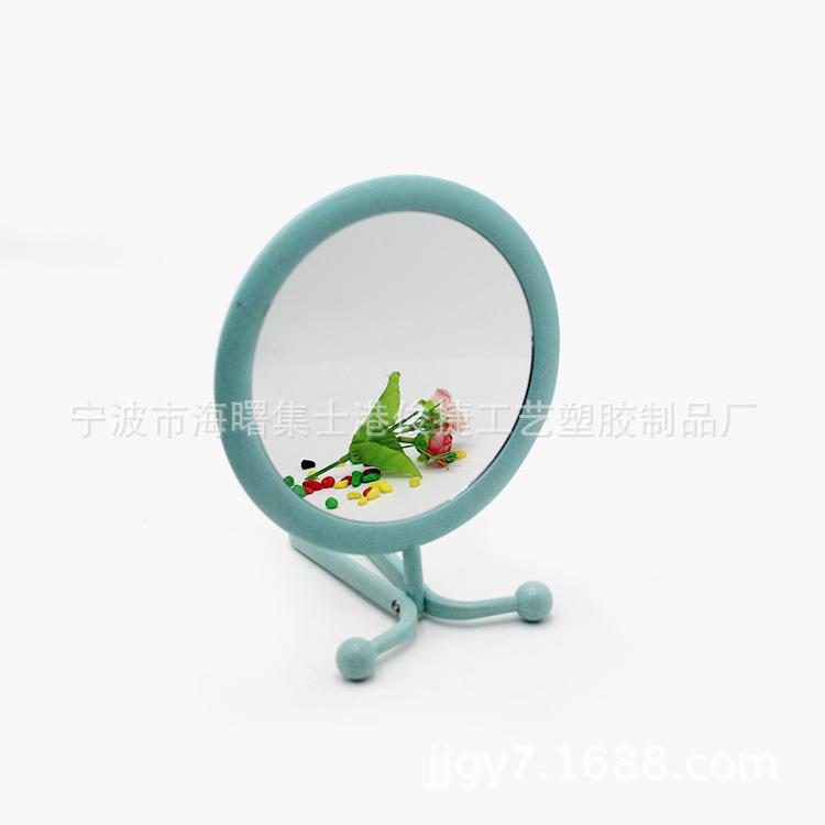 麦相塑料双面圆形化妆镜 手柄台式多功能化妆镜 塑料化妆镜
