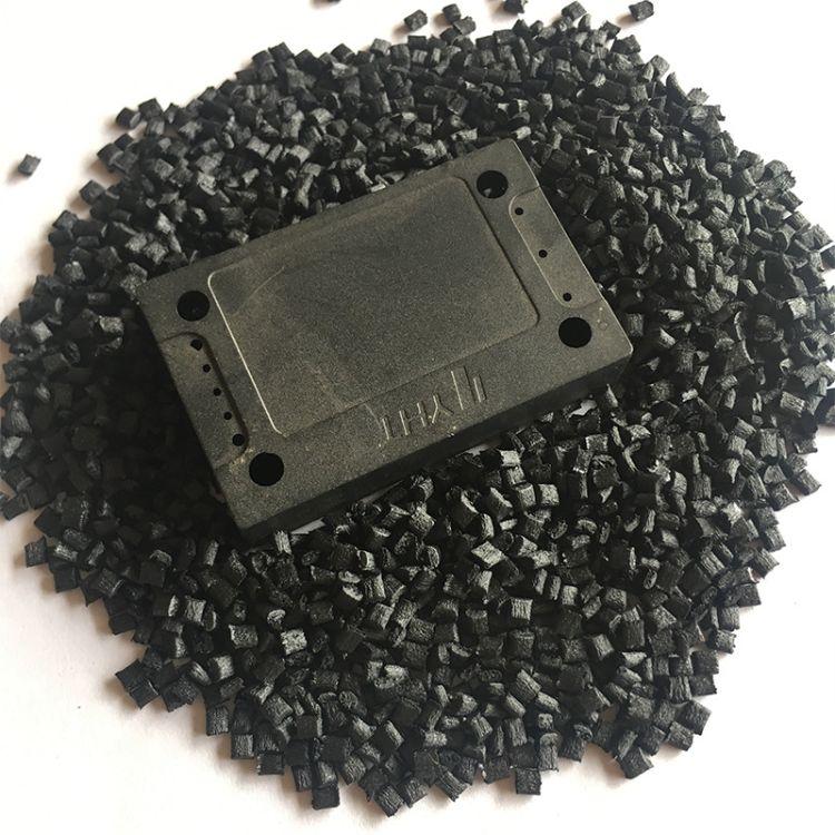 深圳pps 特种工程黑色玻纤增强 PPS 耐高温注塑小型配件料pps原料