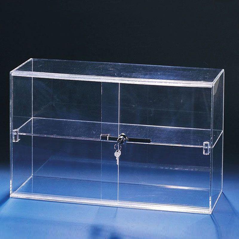 工厂定制透明亚克力四格展示柜亚克力食品陈列架亚克力商品展示架