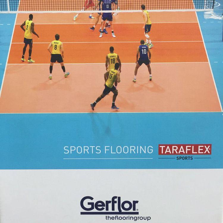 洁福pvc地板室内运动地板篮球场网球场乒乓球场防摔加厚健身地板