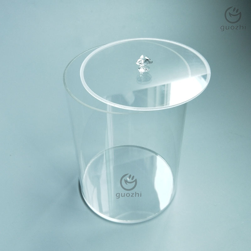 工厂定做有机玻璃圆形盒子 亚克力圆管加工 透明亚加力圆桶盒子