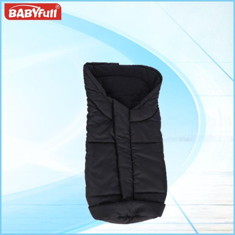 婴儿推车睡袋外贸出口宝宝抱被黑色纯棉夹棉加厚防踢被婴儿睡袋