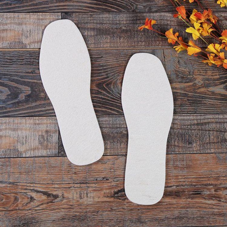 跑江湖地摊羊毛鞋垫 加厚保暖毛毡鞋垫吸汗除臭鞋垫现货供应批发