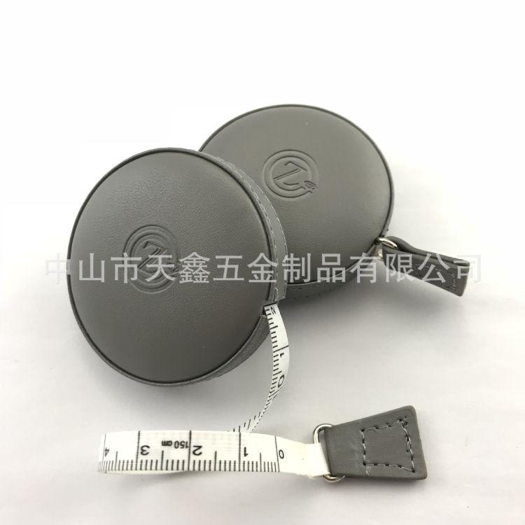 大量供应自动收缩礼品尺 PU皮腰围减肥尺  1.5米圆形包皮卷尺