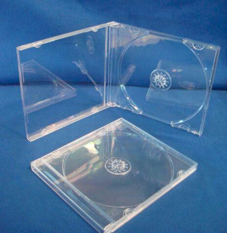10.4mm 包装CD盒子明单CD盒DVD盒透明盒单片光装光盘盒