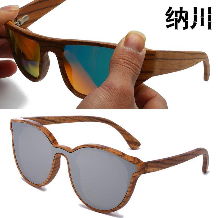 跨境爆款 新款竹木眼镜高档木质复古太阳镜 木头扭曲工艺