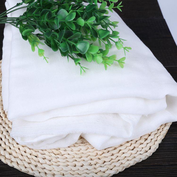 支持定制 销售双层棉方格纱布 现货出售 婴儿抱被双层棉纱布