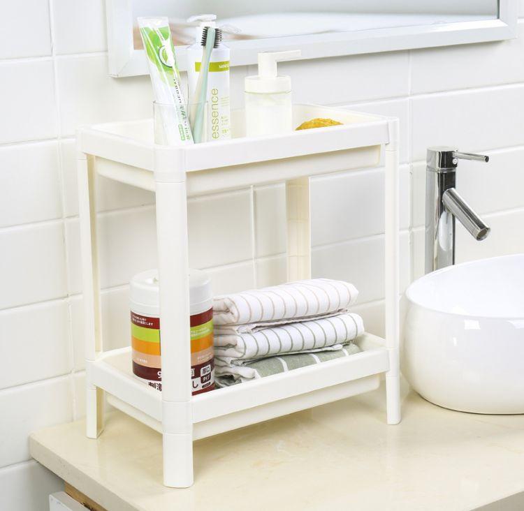 浴室落地置物架沥水架架子卫生间收纳架厨房储物架2层