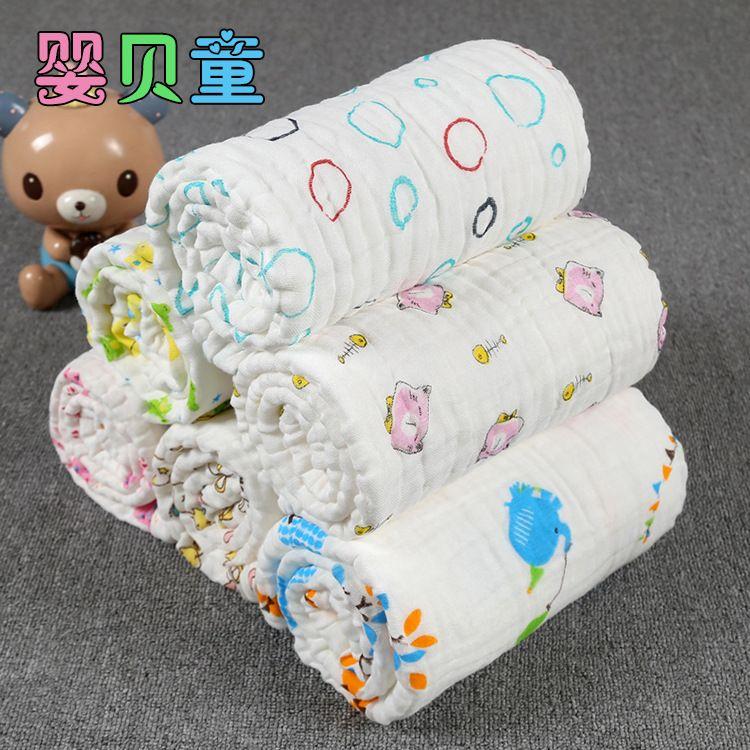 厂家直销棉质纱布童被婴幼儿婴童浴巾纱布毛巾被240g多用巾