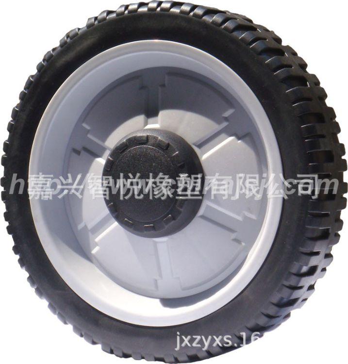 8寸轴承塑料轮子 割草机塑胶轮 PP脚轮  PVC滚轮