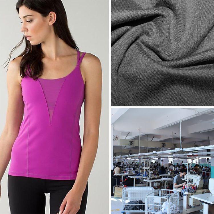 厂家定制运动瑜伽背心OEM贴牌加工网纱健身瑜伽服