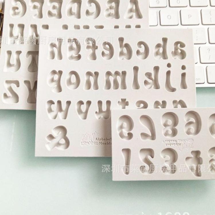2018新款字母数字硅胶模具  diy巧克力烘焙   蛋糕装饰翻糖模具