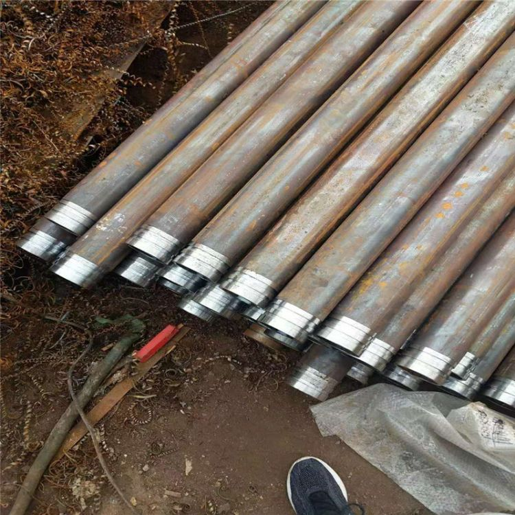 厂家供应20#无缝钢管注浆管隧道用注浆导管建筑用注浆管车丝打孔