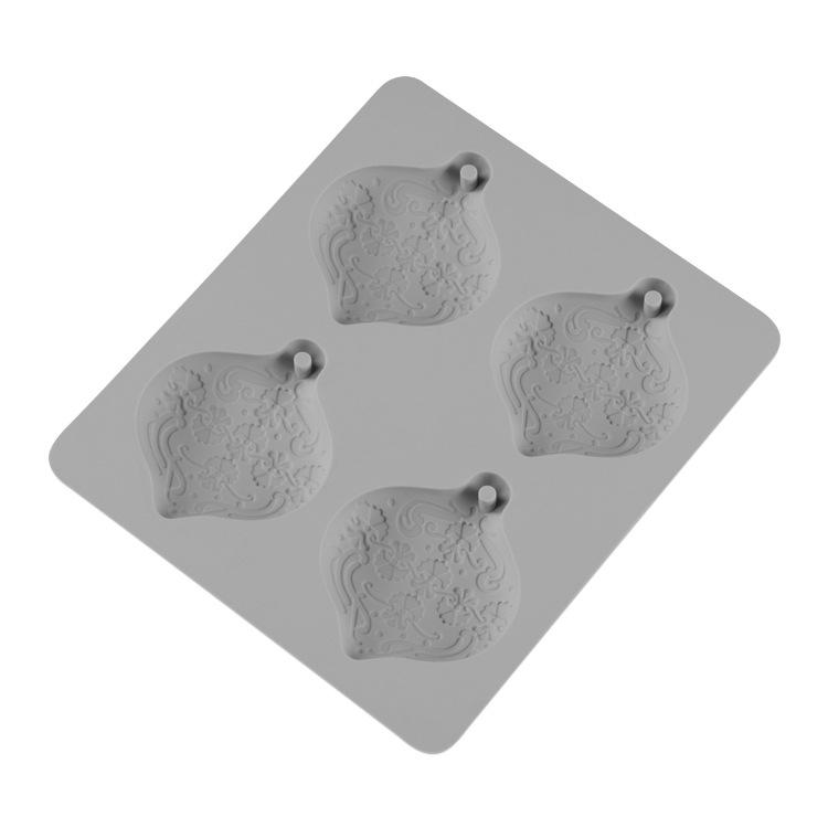 跨境爆款 亚马逊热销4连肥皂模具 叶子蛋糕装饰模具 DIY烘焙工具