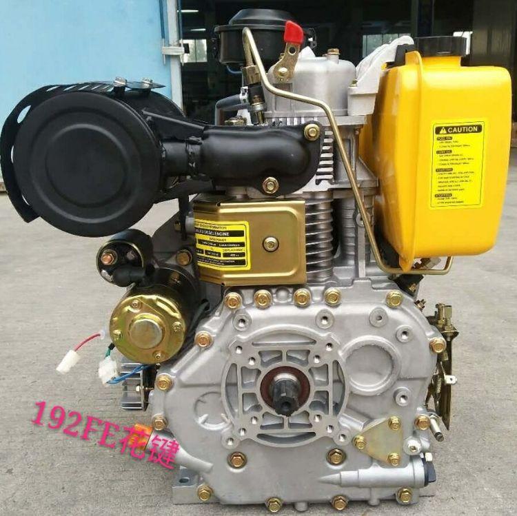 192FE花键电启动 风冷柴油机 14马力配微耕机 分体单缸立式四冲程