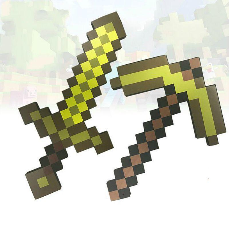 我的世界马塞克刀剑镐枪泡沫道具EVA发泡玩具刀