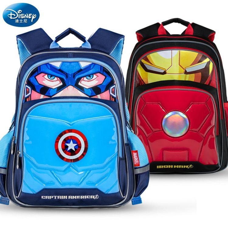 迪士尼书包小学生儿童减负双肩包米奇防水书包一件代发批发
