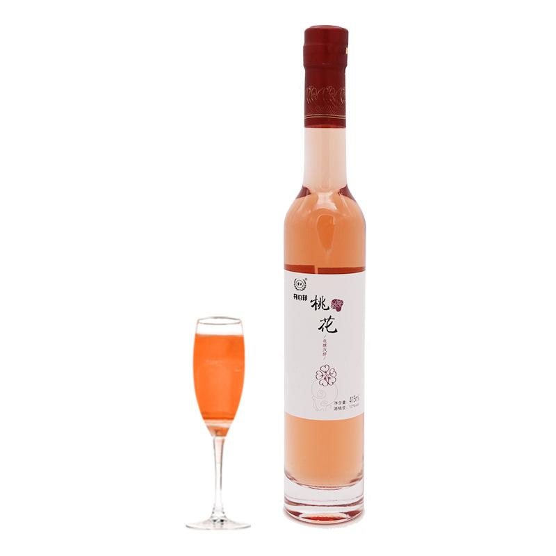 桃花酒黄氏农家自酿桃花醉水果酒415ml男女式酒冰酒瓶果酒批发