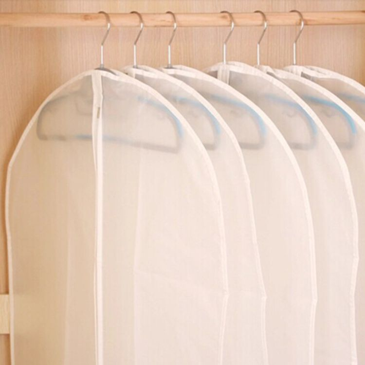 厂家直销简约衣物防尘罩 大号透明无纺布防尘袋 衣服可水洗西服罩