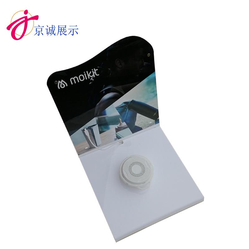 圆形亚克力音响产品展示架 压克力耳机音响架有机玻璃产品音响架