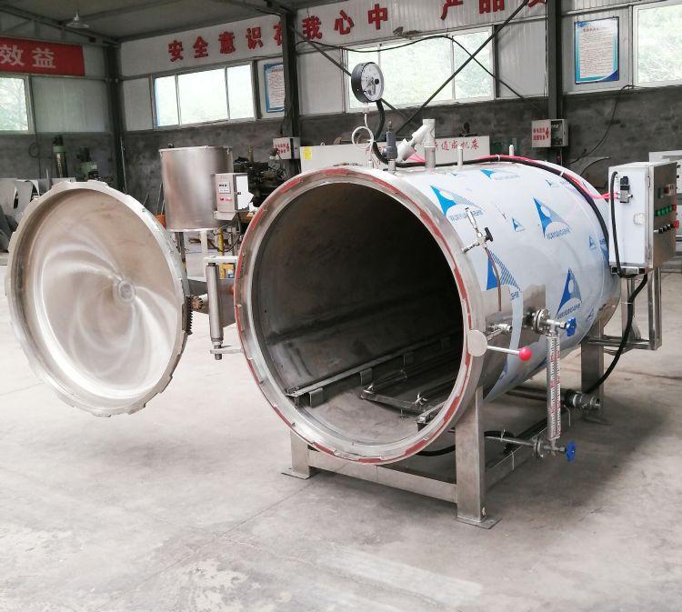 电加热食品杀菌锅卧式豆制品杀菌设备产能大效益高送货到家