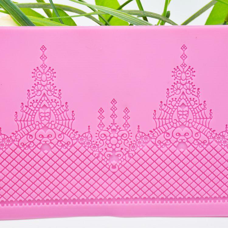 DIY烘焙 模具 硅胶 皇冠蕾丝花边模 翻糖蛋糕模  烘焙 硅胶