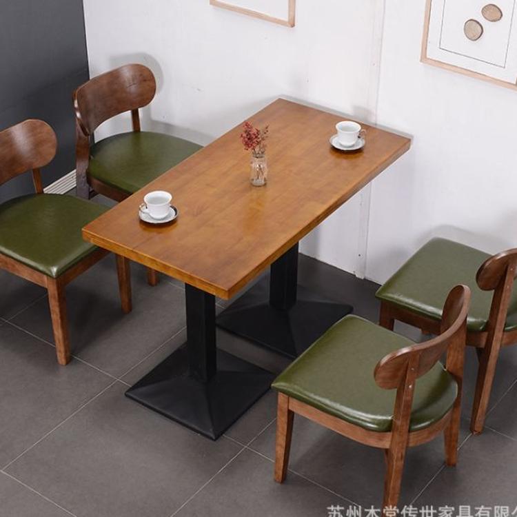 北欧实木桌椅 西餐厅原木餐桌 主题餐厅家具椅子 小凳子酒吧椅