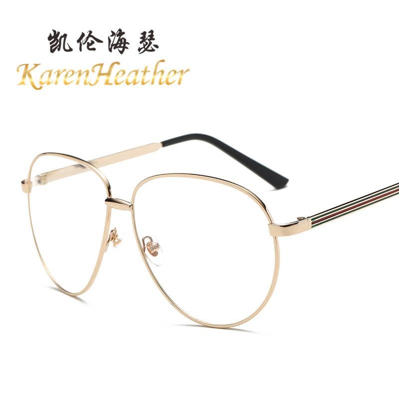 新款眼镜框 网红款男女士大框平光镜防辐射框架眼镜 近视眼镜架潮