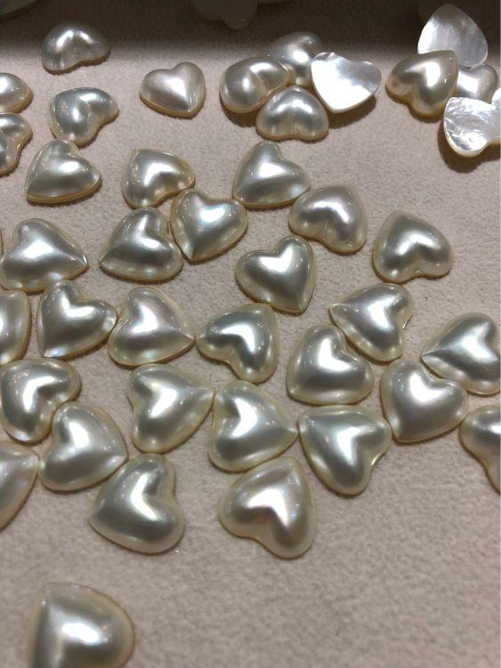 (益生)13-14mm愛心形馬貝海水珍珠散珠半成品批發diy