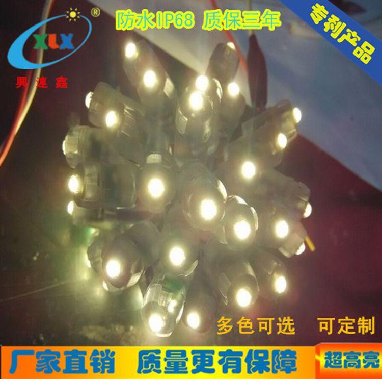 厂家定制led灯串 外露灯12mm LED穿孔灯 灯串广告招牌 打孔发光字