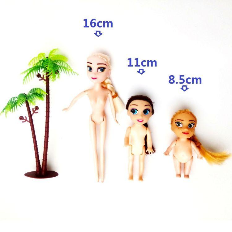搪胶娃娃 16cm冰雪 7寸实心素体迷糊裸娃 娃娃模具 厂家批发