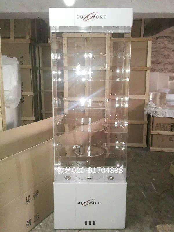 正品方形有机玻璃手机展示柜旋转数码精品首饰产品珠宝玉器展架