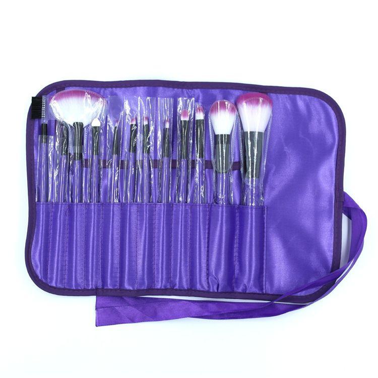厂家直销 12支彩色化妆套刷 彩色工具套刷 化妆工具 美妆刷热卖