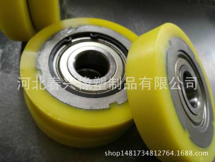 聚氨酯输送轮 轴承包胶 橡胶导向轮 抛光托轮