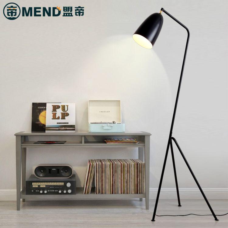 现代简约铁艺三叉落地灯创意个性三脚架落地灯时尚led客厅沙发灯