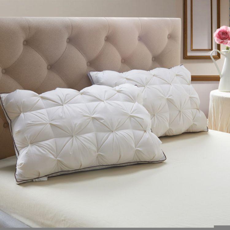 五星级酒店 羽绒枕头 面包枕正品羽绒枕芯白鹅绒