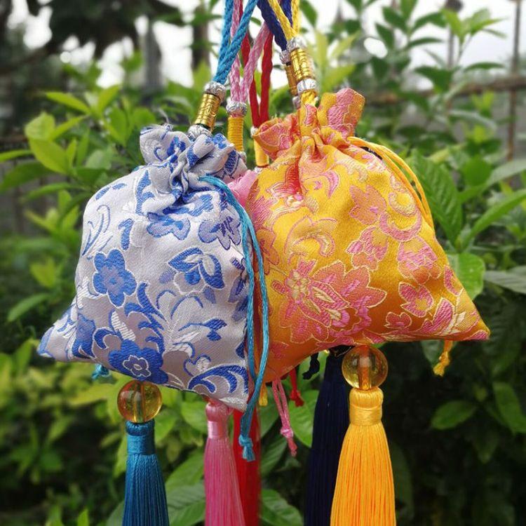 大号端午节福瑞缘锦缎香包香袋可填充艾叶薰衣草香囊满包荷包挂件