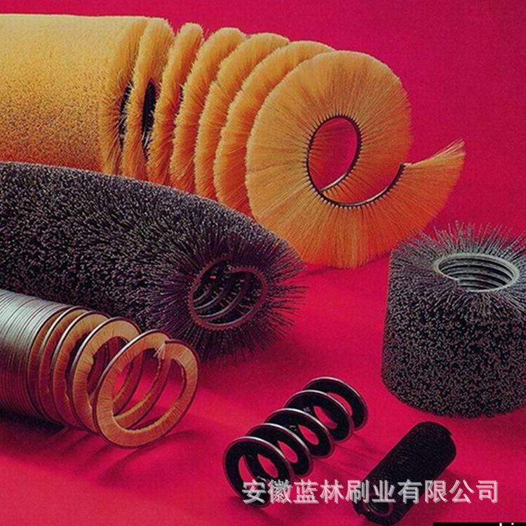 厂家按需定制钢丝弹簧刷 杜邦丝弹簧刷 缠绕式弹簧毛刷