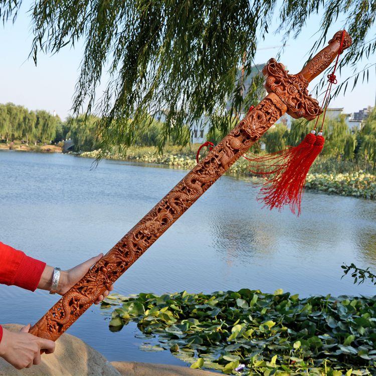 桃木剑礼品批发木质工艺品桃木剑挂摆件 桃木雕工风水家居艺品
