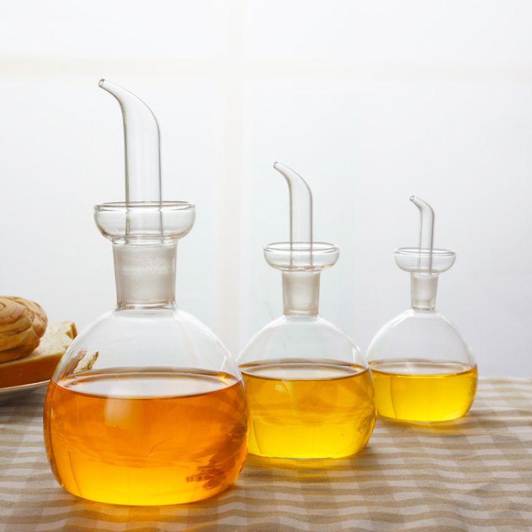 玻璃油壶 油瓶 无铅高硼硅玻璃耐热耐冷防腐蚀调料瓶防漏大号油瓶
