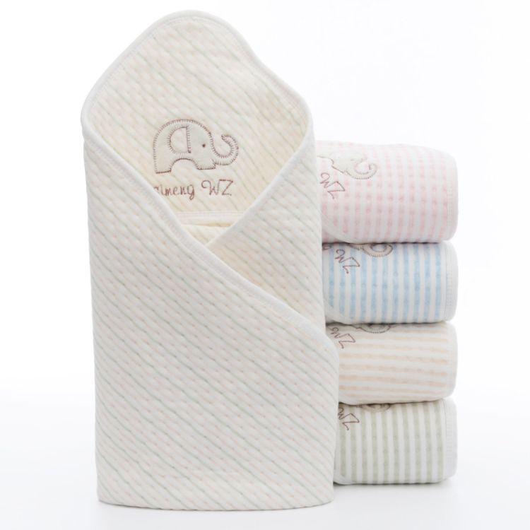 彩棉婴儿纱布抱被包被新生儿包巾纯棉襁褓抱毯春夏宝宝盖毯包裹布