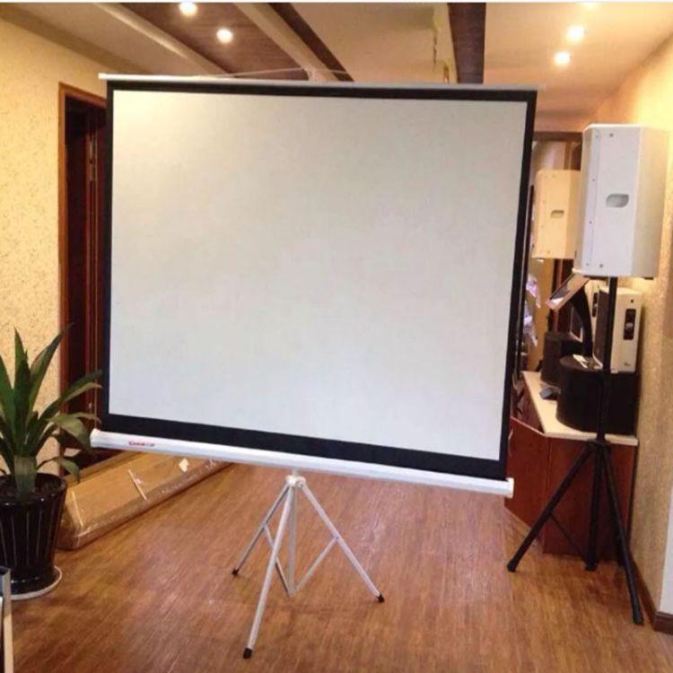 幕布厂家100寸16-9支架幕布便携投影机仪幕落地幕家用KTV公司高清