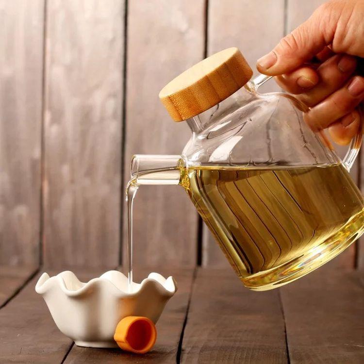 热销 大号日式玻璃油壶 现代简约厨房用品 防漏油瓶 日式油醋壶