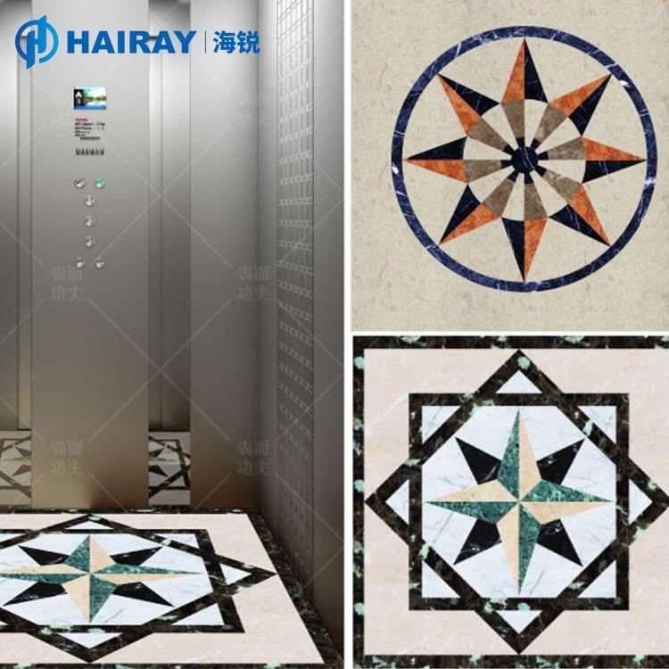 海锐PVC地板浴室防滑垫电梯卧室厨房客厅地毯个性定制打印厂家
