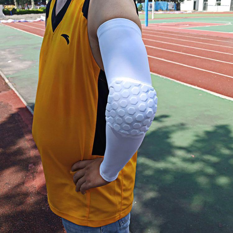 防撞篮球蜂窝护臂装备 运动护肘套超薄 防晒袖套护具用品批发