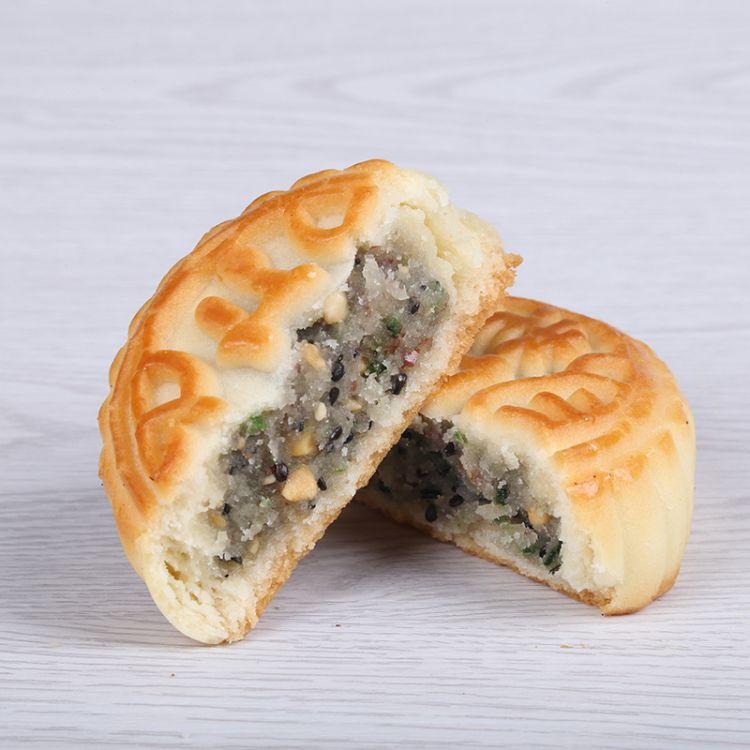 京式月饼 手工制作酥皮月饼 传统老五仁月饼 馅料丰富 好吃又营养