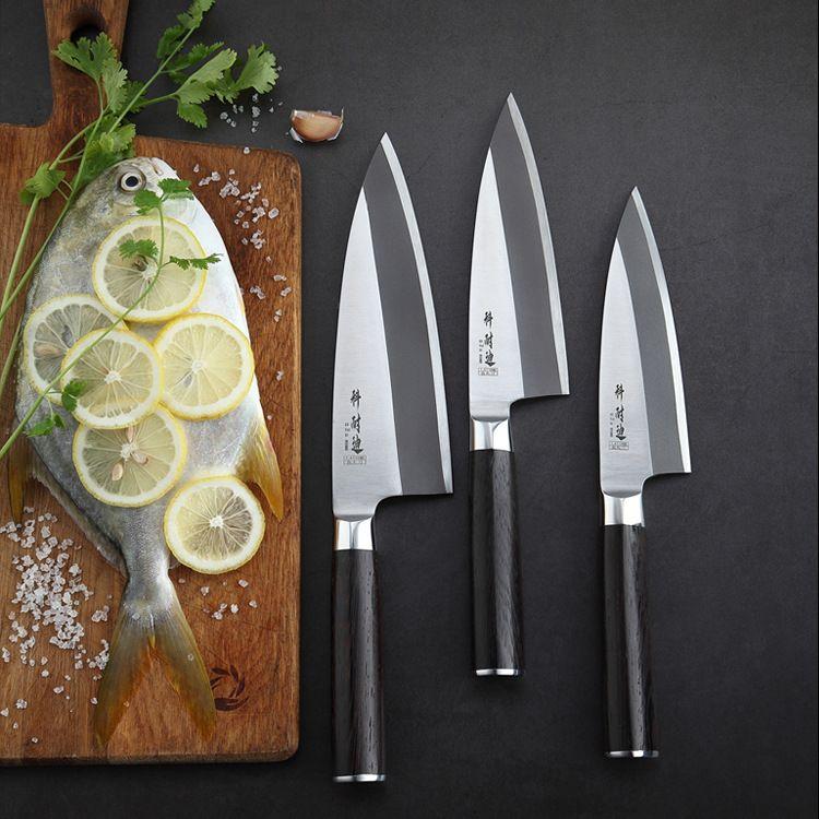 跺鱼头刀酒店专业杀鱼刀刺身刀日本片鱼刀出刃刀不锈钢厨师刀