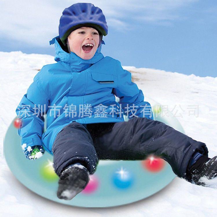 LED滑雪圈 单人加厚耐寒拖拉滑水圈 闪光灯彩色滑雪拖拉 现货
